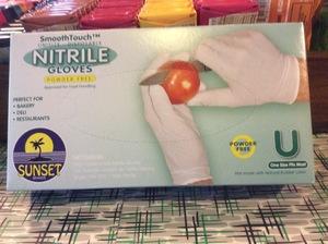 Gloves Nitrile White
